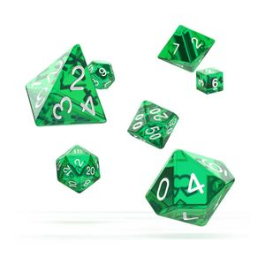 [Oakie Doakie Dice: RPG 7 Set: Translucent Green (Product Image)]