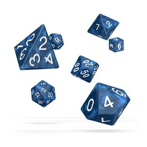 [Oakie Doakie Dice: RPG 7 Set: Marble Blue (Product Image)]