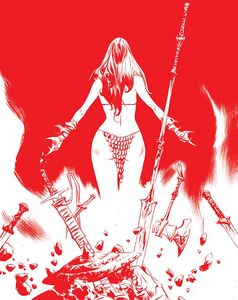 [Red Sonja #26 (Premium Lee Tint Virgin Variant) (Product Image)]