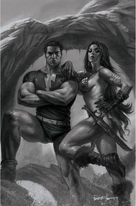 [Red Sonja: The Superpowers #3 (Parrillo Black & White Virgin Variant) (Product Image)]