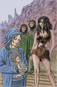 [Planet Of The Apes: Time Of Man #1 (Virgin Allred Variant) (Product Image)]