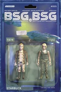 [BSG Vs BSG #5 (Cover C Michael Adams Starbuck Action Figure) (Product Image)]