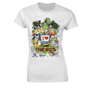 [Nickelodeon Animation: Women's Fit T-Shirt: I Love The 90s (Product Image)]