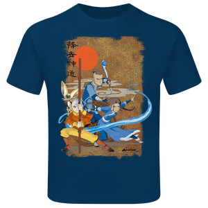 [Avatar The Last Airbender: Children's T-Shirt: Aang & The Gang (Product Image)]