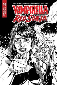 [Vampirella/Red Sonja #10 (Mooney Black & White Homage Variant) (Product Image)]