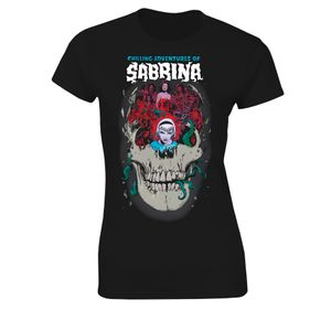 [Archie Comics: Chilling Adventures Of Sabrina: Women's Fit T-Shirt: Monsters, Skulls & Witchcraft (Product Image)]