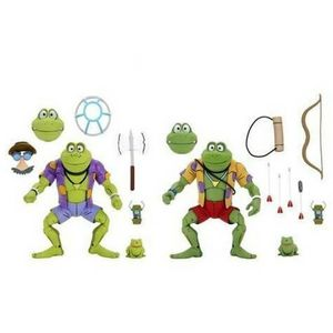 [Teenage Mutant Ninja Turtles: Ultimates Action Figure 2 Pack: Cartoon Genghis & Rasputin Frog (Product Image)]