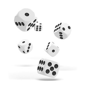 [Oakie Doakie Dice: D6 Dice 12 Set: Solid White (Product Image)]