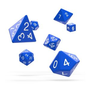 [Oakie Doakie Dice: RPG 7 Set: Solid Blue (Product Image)]