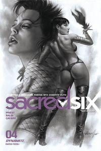 [Sacred Six #4 (Parrillo Black & White Variant) (Product Image)]