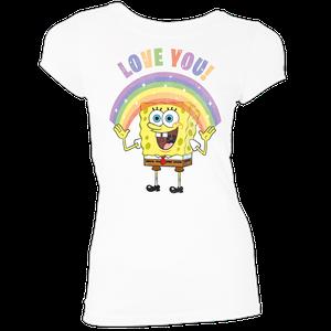 [SpongeBob SquarePants: Women's Fit T-Shirt: Love & Sparkles (Product Image)]