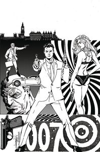 [James Bond Agent Of Spectre #3 (Lopresti Black & White Virgin Variant) (Product Image)]