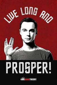 [Big Bang Theory: Poster: Live Long & Prosper (Product Image)]