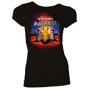 [Doctor Who: Time Lord Victorious: Women's Fit T-Shirt: Daleks! Animation (Product Image)]