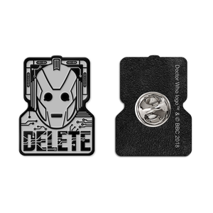 [Doctor Who: Flashback Collection: Enamel Pin Badge: Cybermen Delete (Product Image)]