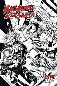 [Mars Attacks/Red Sonja #5 (Kitson Black & White Variant) (Product Image)]