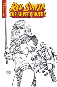 [Red Sonja: The Superpowers #2 (Linsner Black & White Variant) (Product Image)]