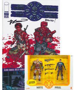 [Die! Die! Die! #1 (Bloody Action Figure 2 Pack & Silver Variant Signed) (Product Image)]