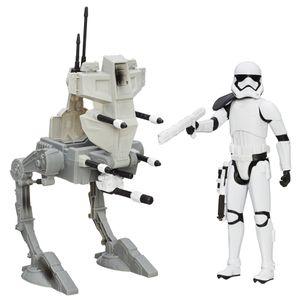 [Star Wars: The Force Awakens: Wave 1 Figure & Vehicle Sets: Assault Walker & Riot Control Stormtrooper (Product Image)]