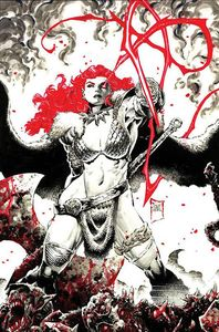 [Red Sonja: Black White Red #1 (Cover N Tan Limited Virgin Variant) (Product Image)]