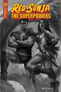 [Red Sonja: The Superpowers #3 (Parrillo Black & White Variant) (Product Image)]