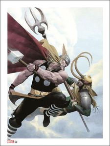 [Marvel: Giclee Print: Thor & Loki (Signed & Numbered) (Product Image)]