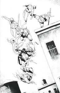 [Power Rangers/Teenage Mutant Ninja Turtles #3 (Garbett B&W Variant) (Product Image)]