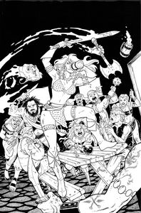 [Invincible Red Sonja #3 (Cover K Conner Line Art Variant) (Product Image)]