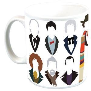 [Doctor Who: Mug: Vector Doctors 1-12 (Inc. War) (Product Image)]