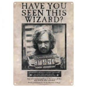 [Harry Potter: Tin Sign: Sirius Black (Product Image)]