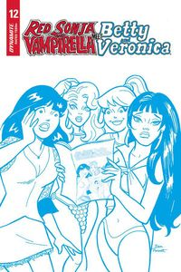 [Red Sonja & Vampirella Meet Betty & Veronica #12 (Parent Blue Tint Variant) (Product Image)]