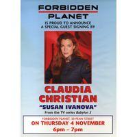 [Bristol Claudia Christian Signing (Product Image)]