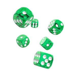 [Oakie Doakie Dice: D6 Dice 12 Set: Translucent Green (Product Image)]