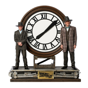 [Back To The Future 3: Art Scale Statue: Marty & Doc At The Clock (Product Image)]