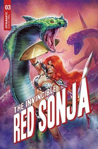 [Invincible Red Sonja #3 (Cover Q Premium Chatzoudis Variant) (Product Image)]