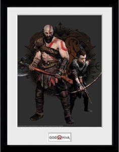 [God Of War: 30x40 Framed Print: Kratos & Atreus (Product Image)]