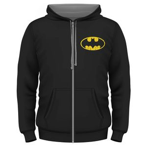 [Batman: Zipped Hoodie: Batman Logo (Product Image)]