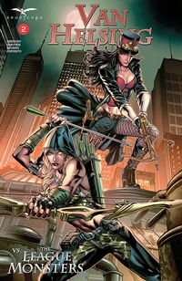 [The cover for Van Helsing Vs League Monsters #2 (Cover A Vitorino)]