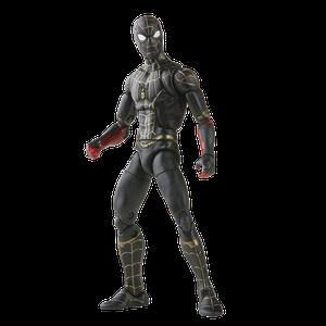 [Spider-Man: No Way Home: Marvel Legends Action Figure: Black & Gold Suit Spider-Man (Product Image)]