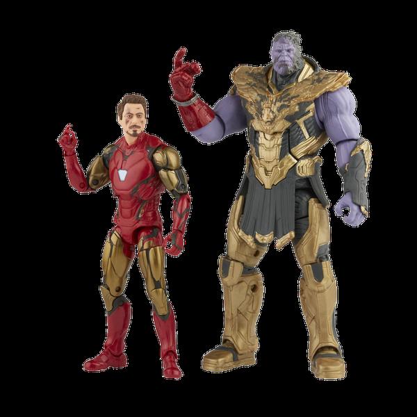 [The cover for Avengers: Endgame: Marvel Legends Infinity Saga Action Figure 2-pack: Iron Man Mark 85 Vs Thanos]
