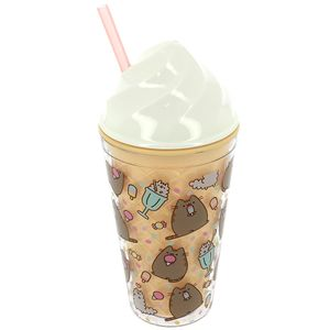 [Pusheen: Novelty Beaker With Straw (Product Image)]