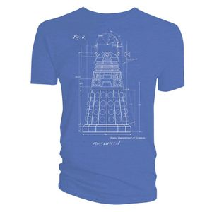 [Doctor Who: T-Shirt: Dalek Blueprint (Product Image)]