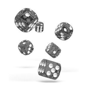 [Oakie Doakie Dice: D6 Dice 12 Set: Speckled Black (Product Image)]