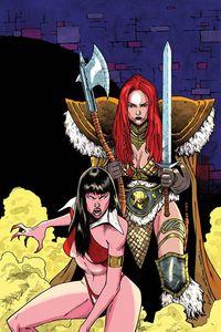 [Vampirella/Red Sonja #11 (Peeples Homage Variant) (Product Image)]