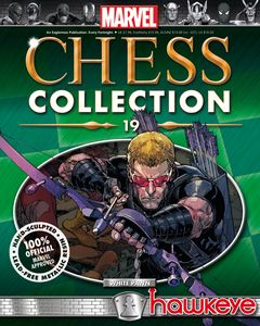 [Marvel: Chess Figure Collection Magazine #19 Hawkeye White Pawn (Product Image)]