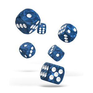 [Oakie Doakie Dice: D6 Dice 12 Set: Marble Blue (Product Image)]