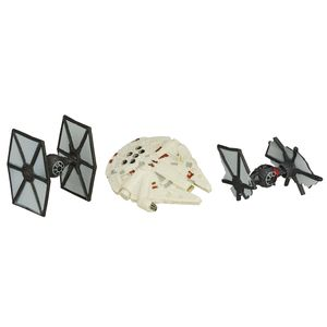 [Star Wars: The Force Awakens: Wave 1 Micro Machines 3 Packs: First Order TIE Fighter Attack (Product Image)]