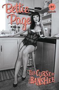 [Bettie Page: The Curse Of The Banshee #1 (Cosplay Black & White Variant) (Product Image)]