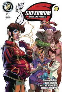 [The cover for Supermom: Expecting Trouble #1 (Cover A Oliveira)]