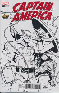 [Captain America #695 (Ace Comic Con B&W Exclusive Variant) (Product Image)]